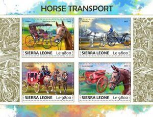 Sierra Leone - 2017 Horse Transport - 4 Stamp Sheet - SRL17717a