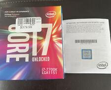 Intel Core i7 7700K 4.2 GHz Quad-Core (BXC80677I77700K) Processor