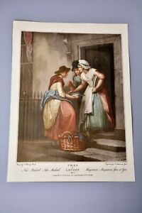 Antique Clipping/Print: Cries of London Plate 5, Mackrel Fish Seller