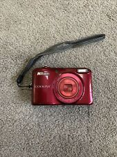 Nikon Coolpix L28 Red Digital Camera TESTED WORKS