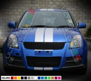 Sticker Decal Stripe Kit for Suzuki Swift S SZ R ZC31S ZA11S ZC32S Bonnet Wing