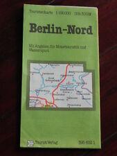 Touristenkarte Berlin-Nord 1:100.000 (VEB Tourist Verlag, DDR, 1981)
