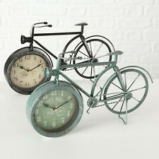 Tischuhr Rustikal Vintage Boltze Fahrrad 39cm Eisen Standuhr Schwarz Dekouhr