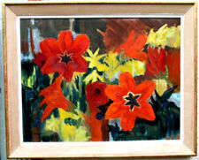 Oil Large (up to 60in.) Floral Art Paintings