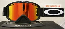 OAKLEY O2 XM MATTE BLACK FIRE IRIDIUM MASCHERA SKI SNOWBOARD NEW