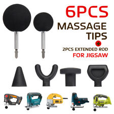 Percussion Massage 6pcs Tip Bit For Jigsaw Massager Adapter Attachment Kit Set