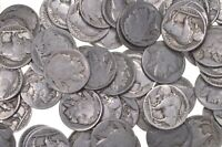 Lot: No Date Buffalo Indian Nickels - Collection 5 Rolls 200 US Coins 1913-1938