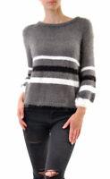 For Love & Lemons Women's Fleetwood Knit Sweater Grey RRP £168 BCF68