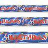 4 Yard Happy 18th Birthday Red Blue Party Shimmer Foil Banner Decoration