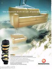 PUBLICITE ADVERTISING 065  2001  ROSSIGNOL  chaussures de ski  SOFT