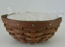 Longaberger 2010 Buffet Buddy Bowl in Warm Brown and lidded protector NEW