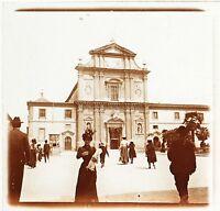 Italia Florence Placca Da Lente Stereo Positivo Vintage Ca 1910