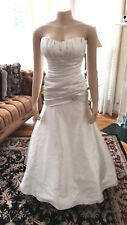 New listing Ivory Beautiful Wedding Gown Sz 6 Gorgeous! Needs Zipper Hook. Unbranded.
