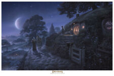 Bag End- licensed Lord of the Rings paper giclee