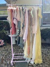 Antique Vintage Edwardian To 60s Clothing Lot Silk Dress Ruffles Lace Boudoir