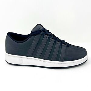 K Swiss Classic Luxury Edition Black White Mens Size 9 Sneakers 0001013