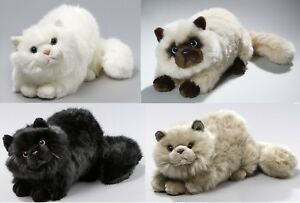 PERSIAN CAT LYING SOFT TEDDY BEAR TOY CUDDLY CRITTERS PLUSH 30cm KITTEN KIDS NEW