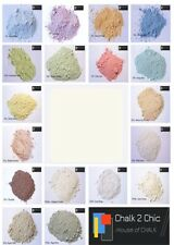 #CP16  WHITE DUNE furniture shabby chic CHALK powder craft PAINT makes 2 L
