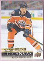 EVAN BOUCHARD RC 2018-19 UPPER DECK SERIES 2 YOUNG GUNS CANVAS #C238