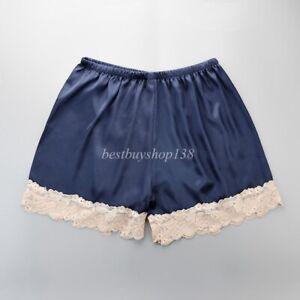 Anti-Static Slip Satin Bloomers Panties Pettipants Sleepwear Shorts Lingerie 4XL