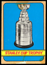 1972 73 OPC HOCKEY #253 STANLEY CUP TROPHY VG BOSTON BRUINS CHAMPS ON BACK IN EX