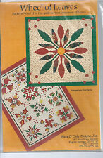 applique quilt PATTERN CLEARANCE Flying Fish Gum Leaves in the Pool