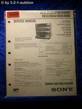 Sony Service Manual HCD D390 /D790 /G5500 /XB33 /XB44 /XB50 /XB60 (#4456)
