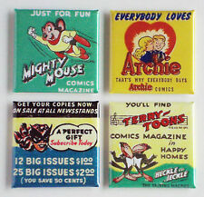 Old Time Comic Book FRIDGE MAGNET Set (2 x 2 inches each) batwoman