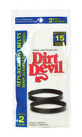 2 Dirt Devil 3-SN0220-001 Style 15 Vacuum Cleaner Belts