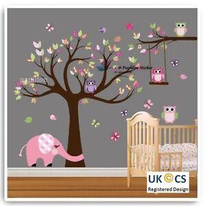 Forest Tree/ Flower/ Butterfly/ Owl /Elephant Nursery Baby Room Kid wall sticker