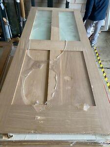 """78x33"""" Victorian Oak Shaker - Frosted Glazed Door (1981x838x35mm)"""