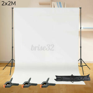 Photography Studio Background Support Stand White Screen Backdrop Photo Kit