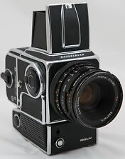 Mint Hasselblad 500EL/M Medium Format SLR Film Camera c/w 80mm f/2.8 Lens Kit
