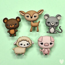 Dress it Up Buttons Animal Cuties 9363 - Deer Bambi Pig Mouse Sheep Bear Lamb