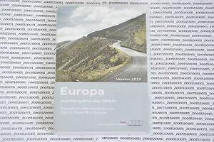 Audi RNS-E NAVIGATION PLUS SATNAV DVD 2015 a3 a4 a6 Set Germany France Italy UK