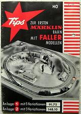 Tips Märklin Bahn Faller Modelle Gleisplan Gleisanlagen Ratgeber Leporello 1960