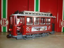 LGB 72351 RED CHRISTMAS TROLLEY STREET CAR WITH SANTA! BRAND NEW NO BOX!