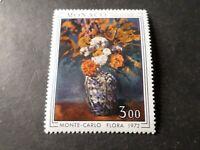 MONACO 1972, timbre 886 tableau CEZANNE, FLEURS, PAINTING neuf**, VF MNH