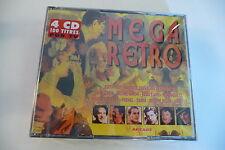 MEGA RETRO -COFFRET 4CD NEUF 100 TITRES EDITH PIAF TRENET FREHEL DAMIA ARLETTY..