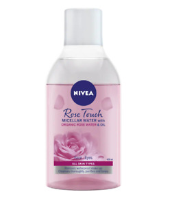 Nivea Micellar Water Rose Touch Make Up Remover Cleanses Hydration Skin 400 ml