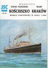 Polnisches Passagierschiff KOSCIUSZKO, Trampschiff KRAKOW