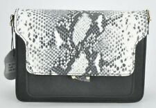NEW Pochette borsa donna vera pelle fatta a mano tracolla catena fantasia pitone