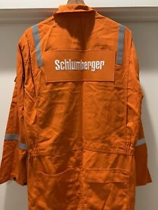 Red Wing VTG Schlumberger Antiflame Mens Orange Coveralls Drilling SIZE 40R EUC