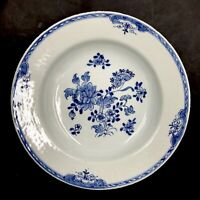 Belle assiette CREUSE porcelaine de CHINE XVIIIe 18TH Bleu Blanc