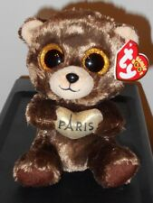 Ty Beanie Boos - DARCY the Bear ~ Paris Exclusive ~ 2017 NEW ~ IN HAND & IN USA