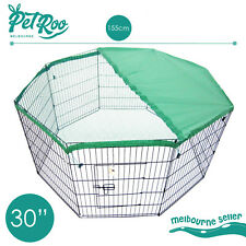 "30"" 8 Panel Pet Playpen W Cover Portable Cage Fence Enclosure Dog Puppy Rabbit"