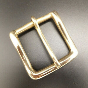 """CAST SOLID BRASS [ 1/2"""" to 2""""  ] WEST END STYLE BELT BUCKLE - HEAVY DUTY"""