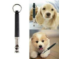 Pets Dog Training Obedience Whistle UltraSonic Flute Black Trainer H3S0 Y3C2