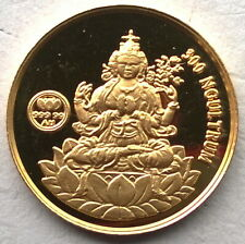 Bhutan 1996 Bodhisattvas 300 Ngultrum Gold Coin,Proof