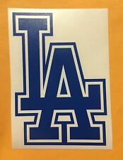 LOS ANGELES DODGERS LA LOGO VINYL DECAL STICKER CAR WINDOW ETC. 6 X 4 Inches